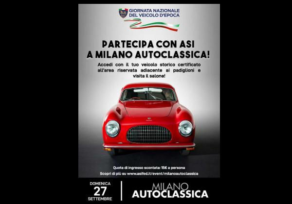 Grande raduno ASI a Milano Autoclassica!